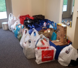The combined 331 pounds of food donated to The Foodbank Program through Frederick Pagan Pride Day