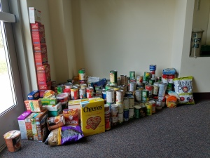 Our donations - over 391 pounds of food!
